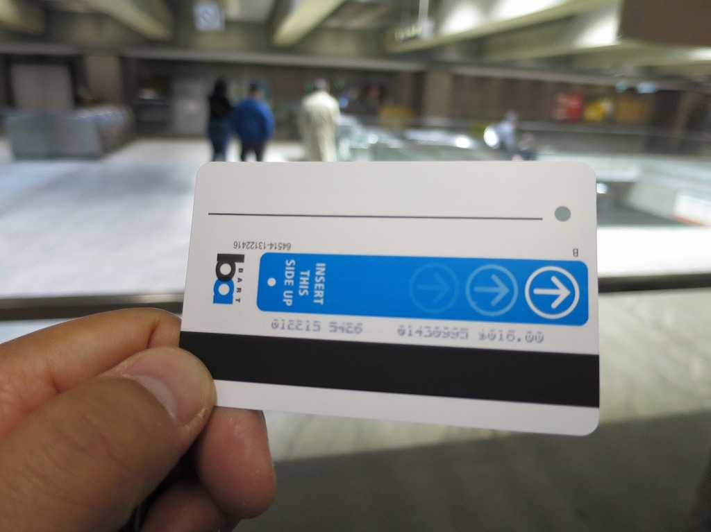 サンフランシスコ - バート(BART)乗車券