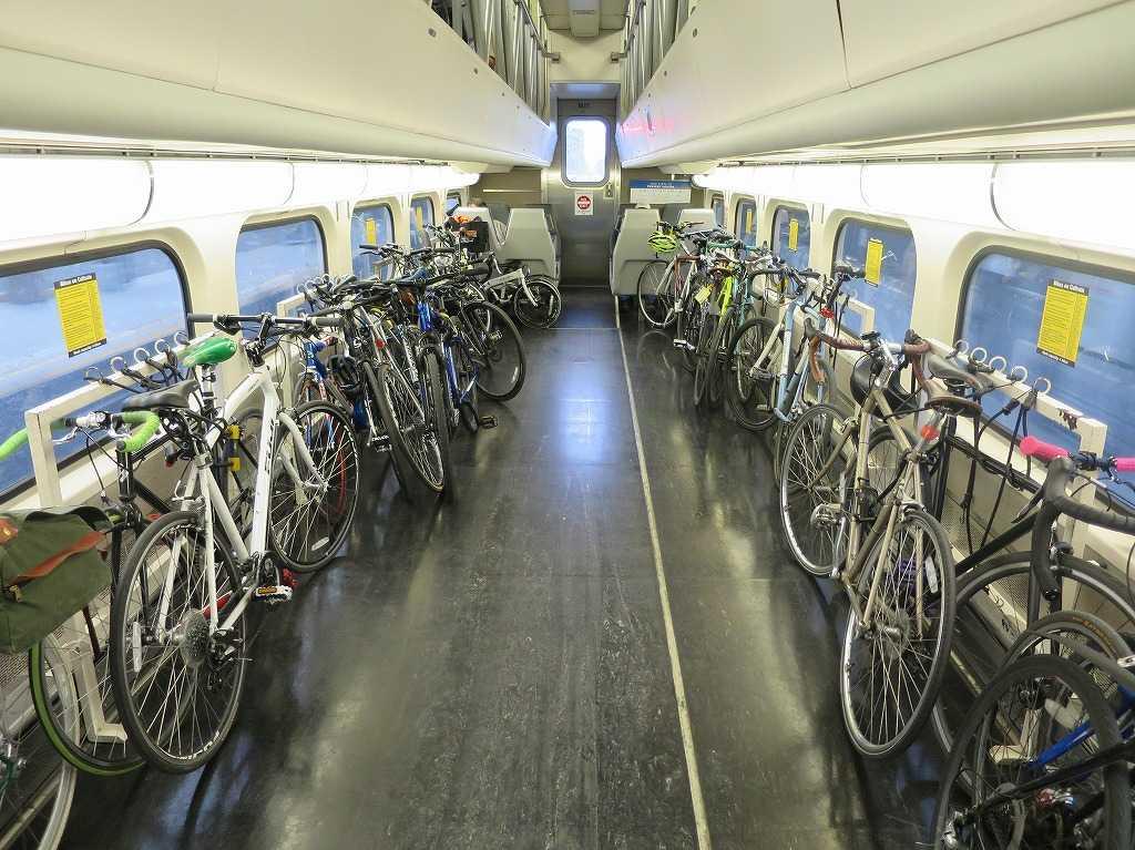 カルトレインの自転車収納スペース