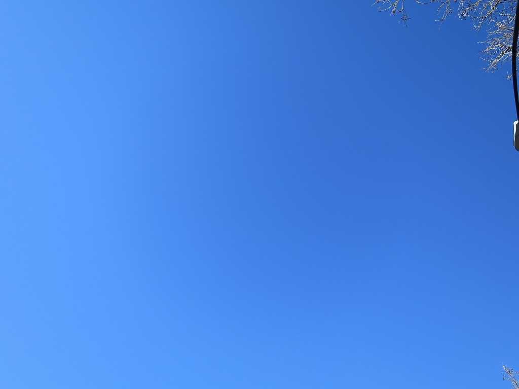 雲一つないサンノゼの青空
