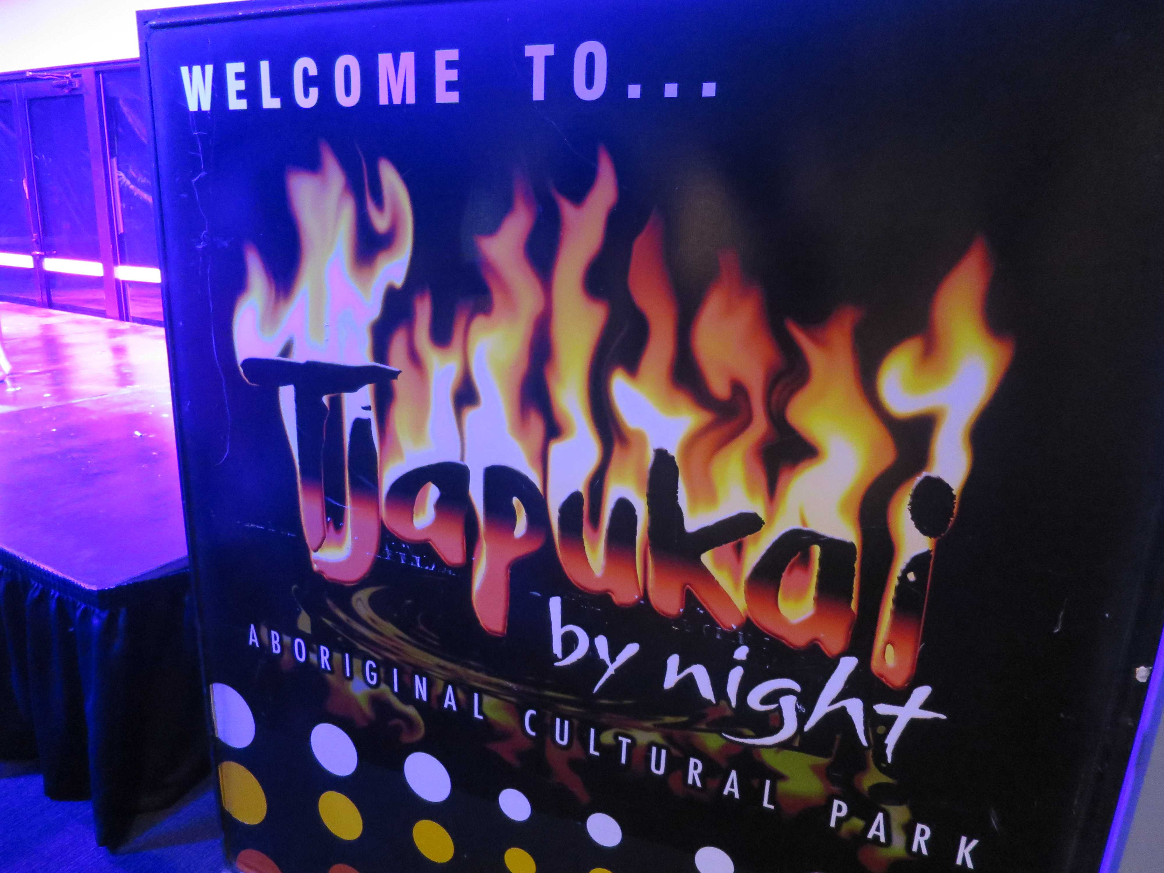 WELCOME TO Tjapukai by night - Tjapukai Aborigonal Cultural Park