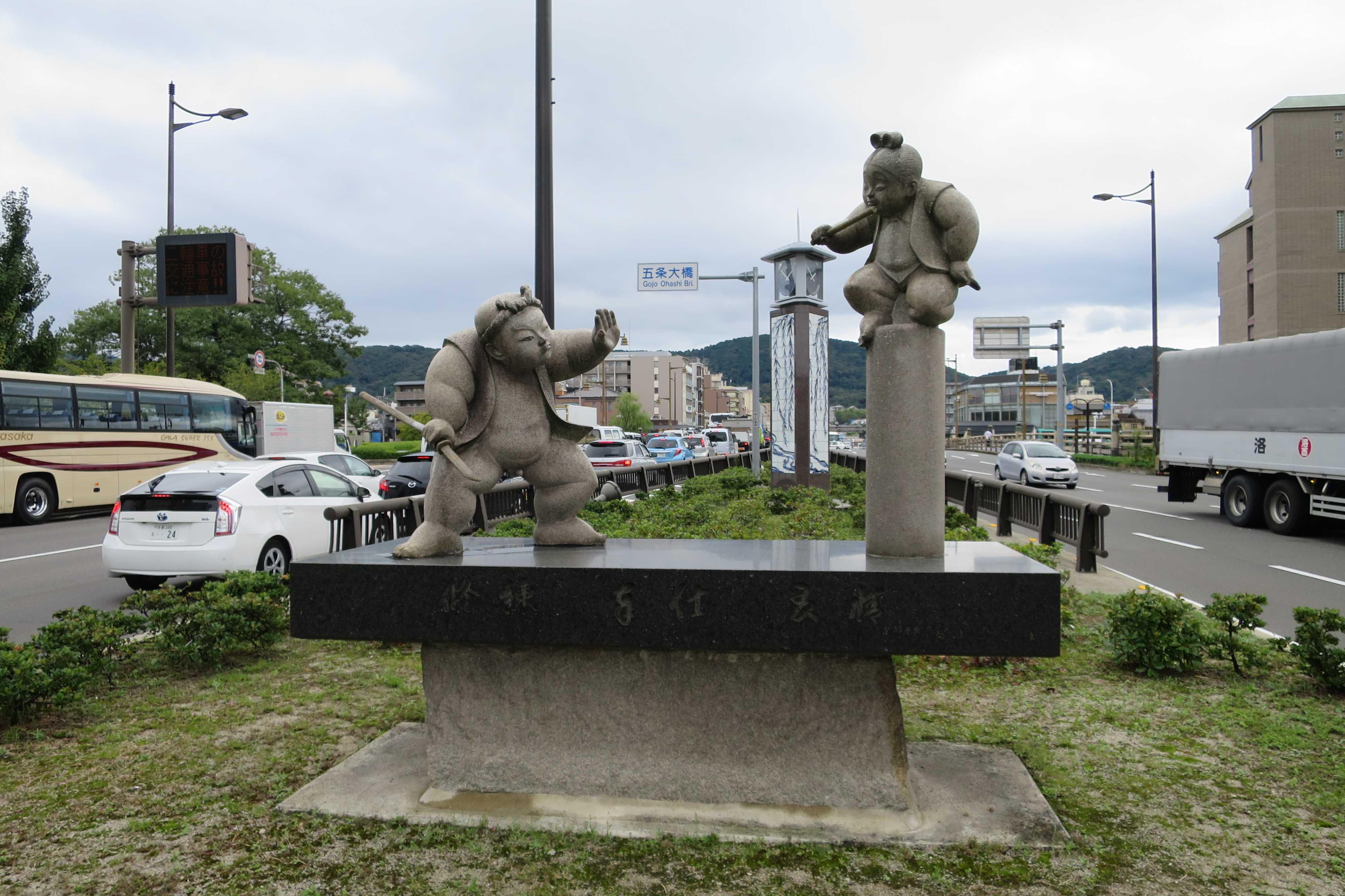 五条大橋の牛若丸・弁慶像