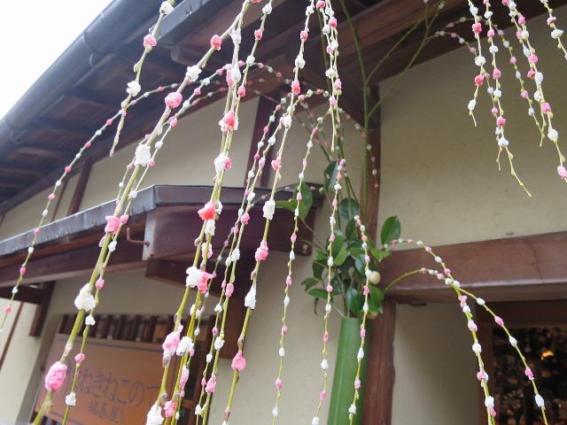京都の民家の飾り付け