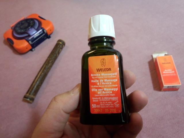ヴェレダ 「アルニカ マッサージオイル」の瓶(ビン)