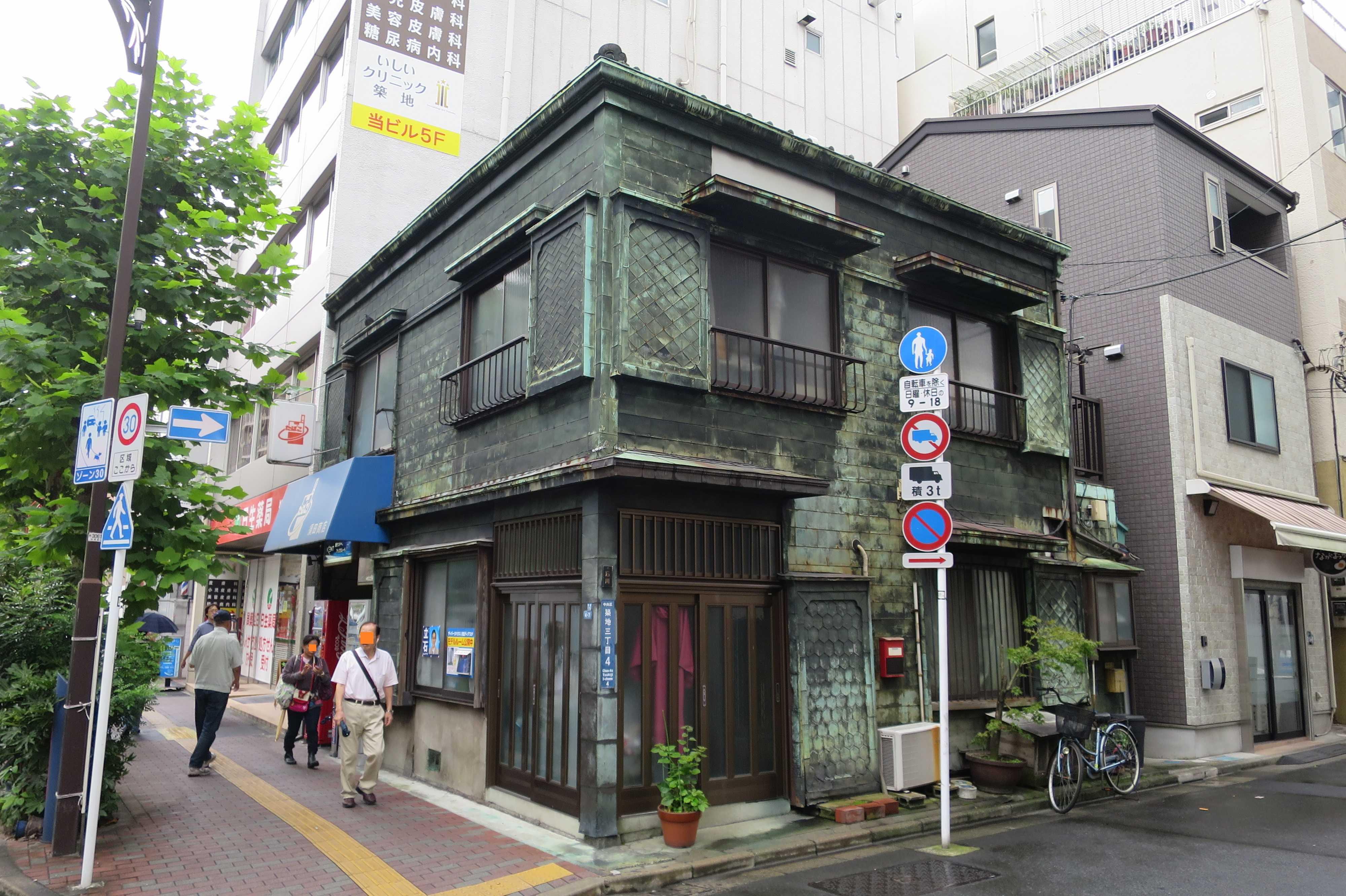 築地エリア - 看板建築(須田商店・石川家)