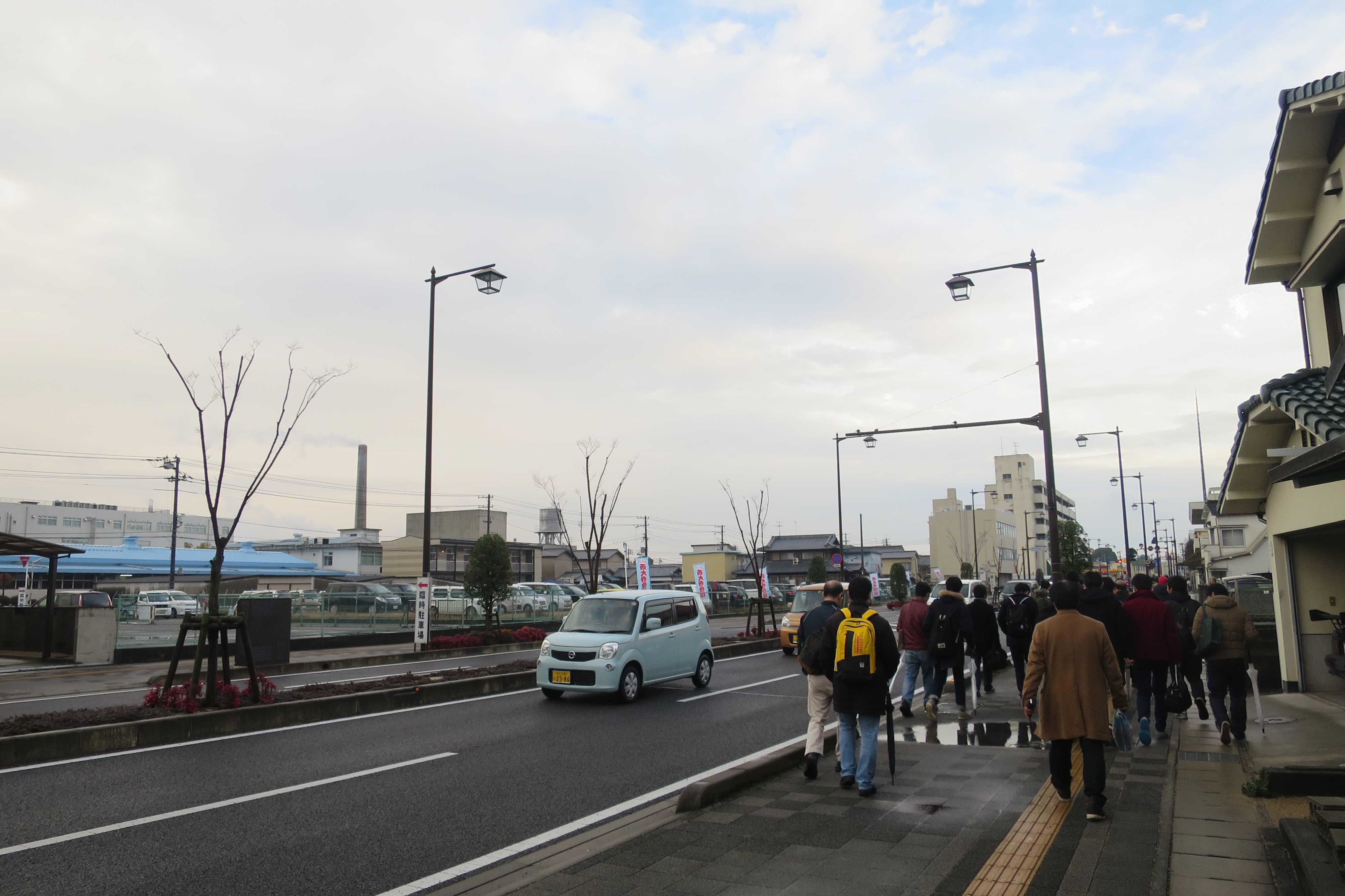 西大寺の駅前通り(観音院通り)