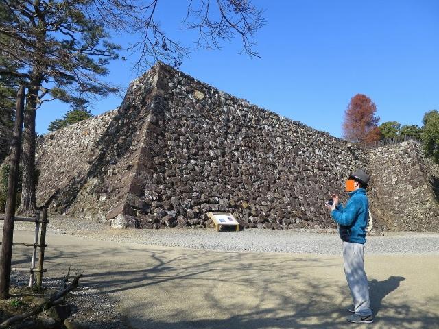 高知城の堅固な石垣