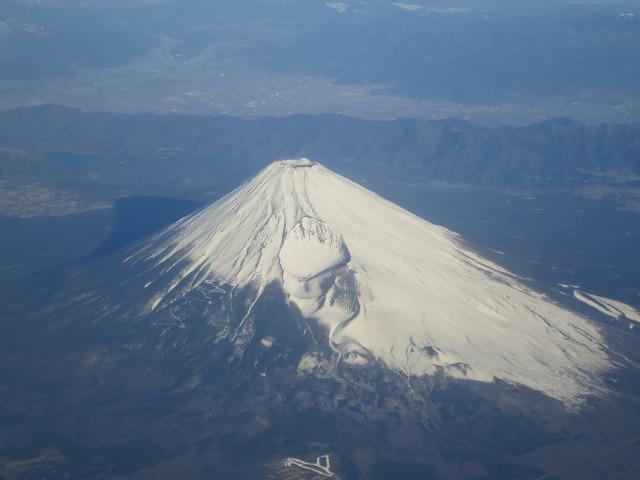 末広がりのきれいな形の富士山