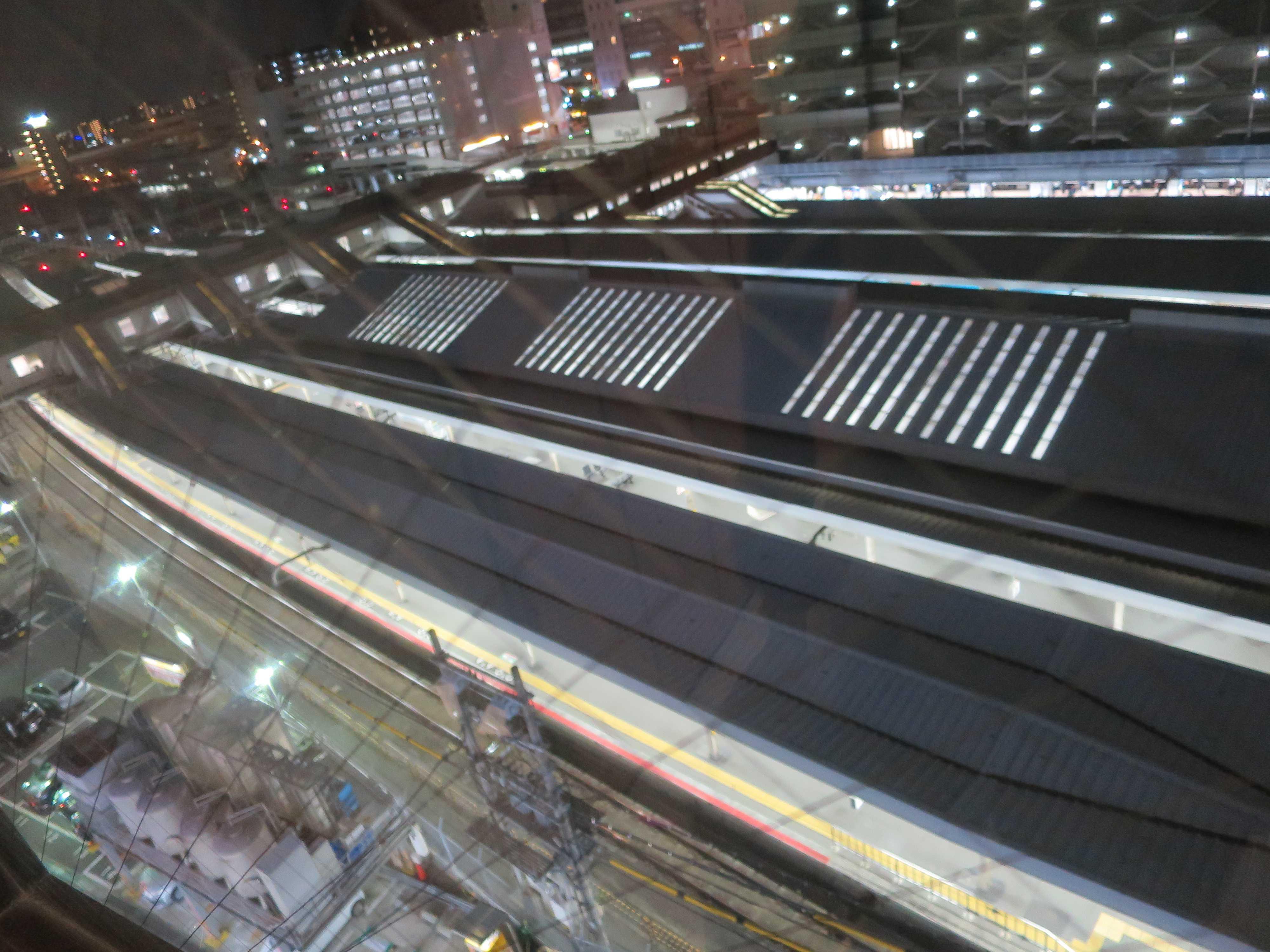ホテルから見えた JR天王寺駅