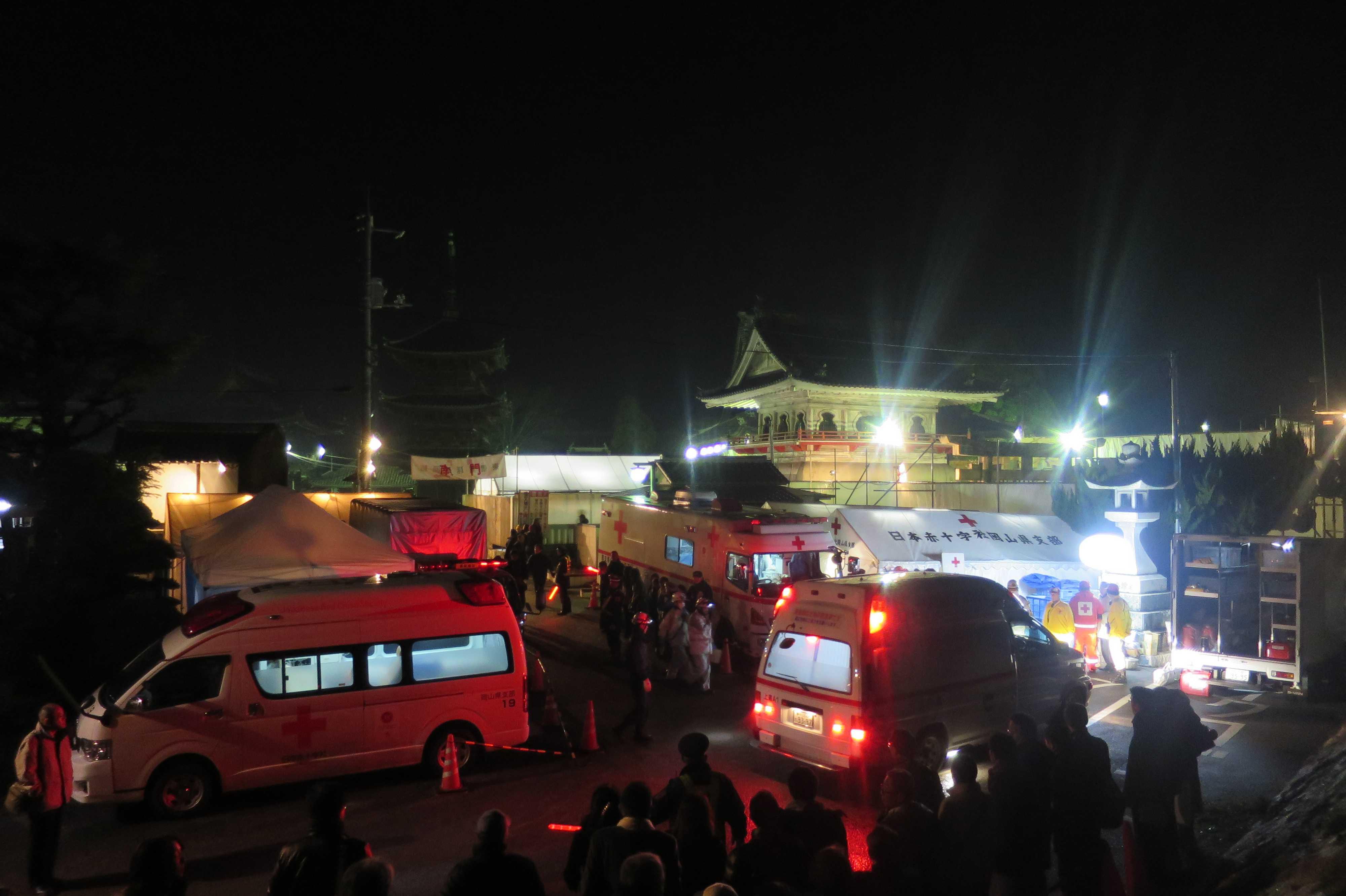 西大寺会陽 - 救急車