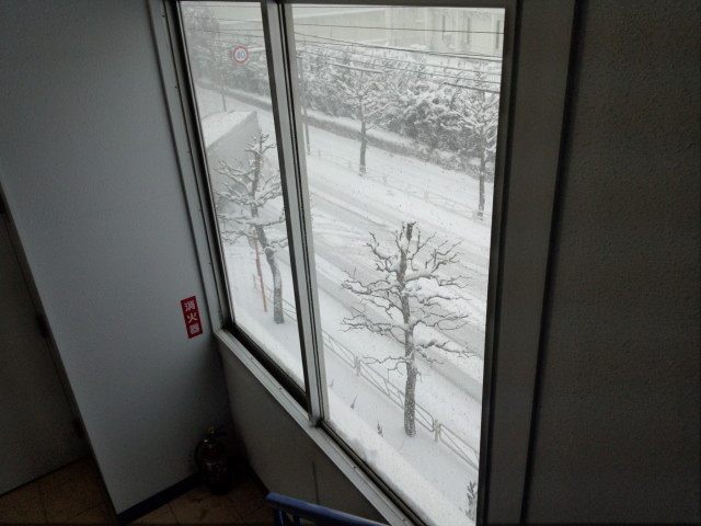 ムラウチドットコム本社から見えた雪景色