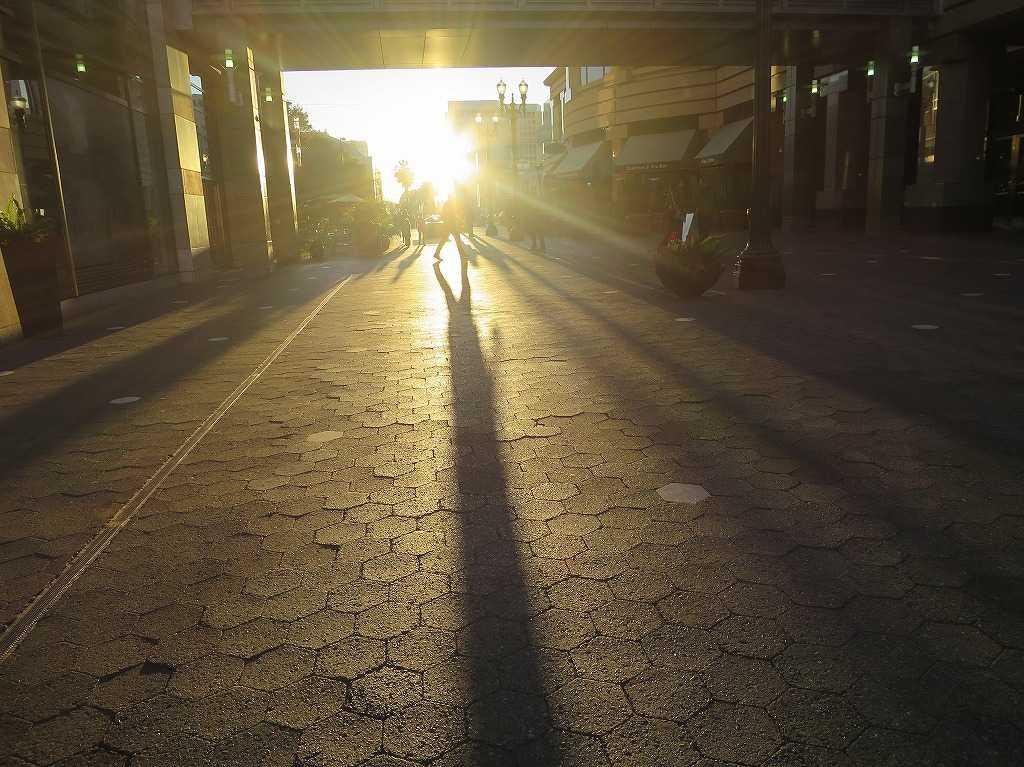 サンノゼの夕陽 - パセオ・デ・サン・アントニオ・ウォーク