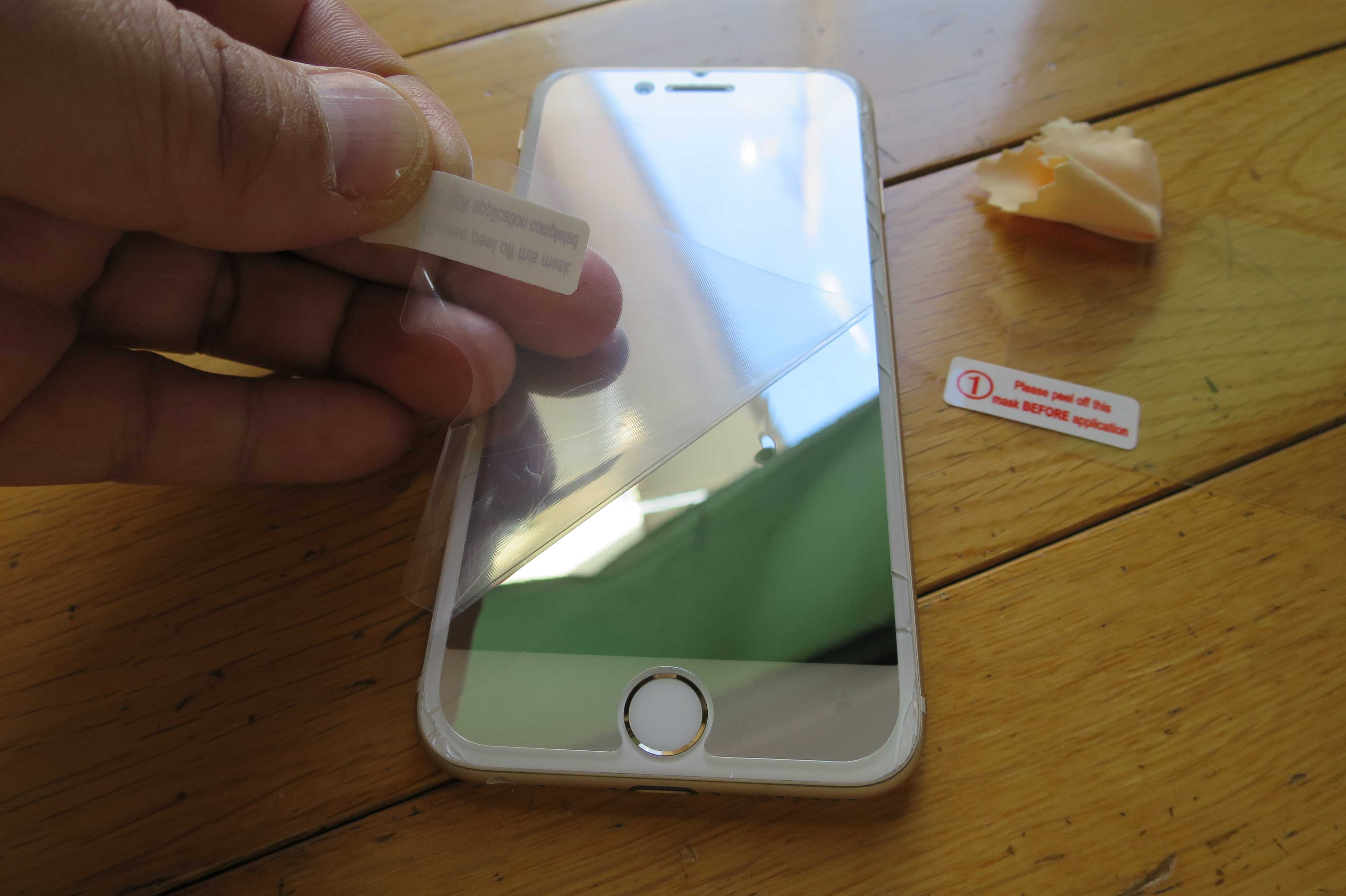 100円ショップの iPhone用液晶保護フィルム
