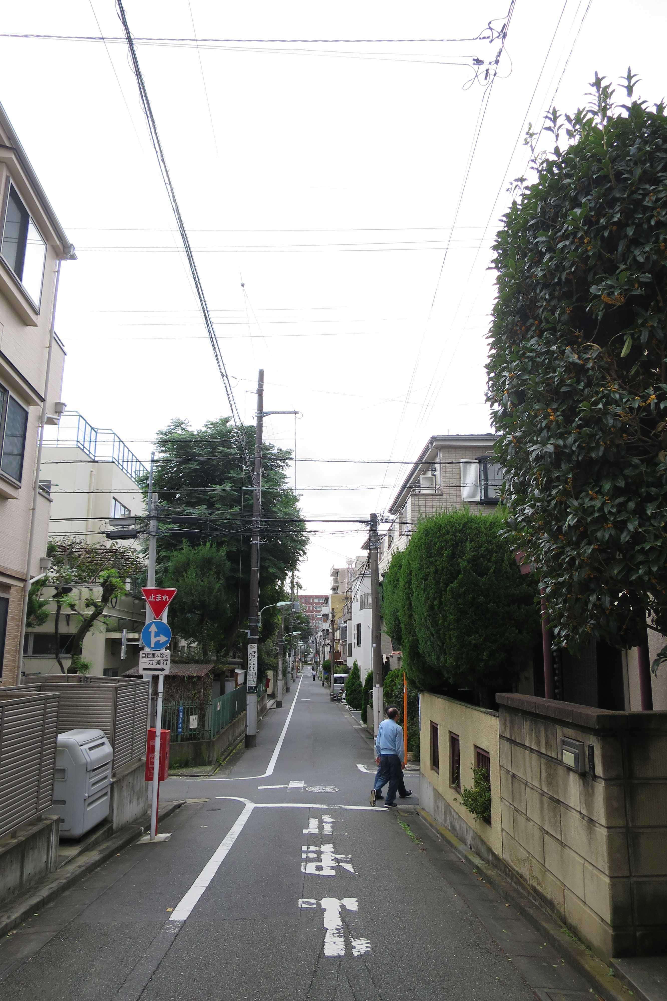 東京都品川区・上神明小学校の前の道