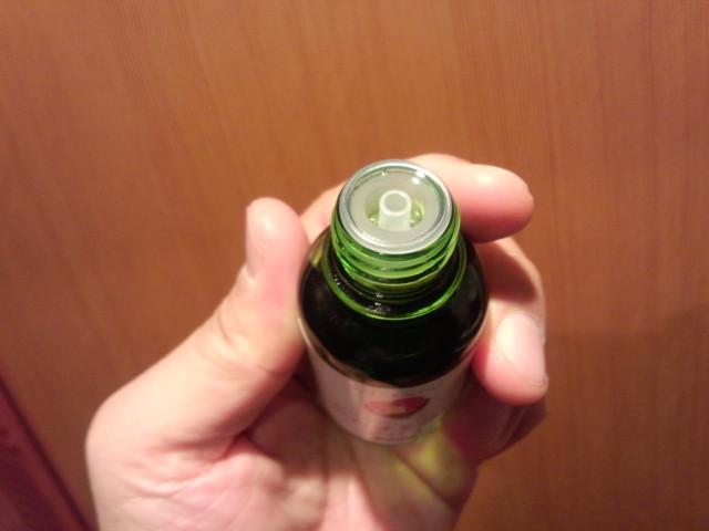やんばる森のツバキオイルの瓶(ビン)