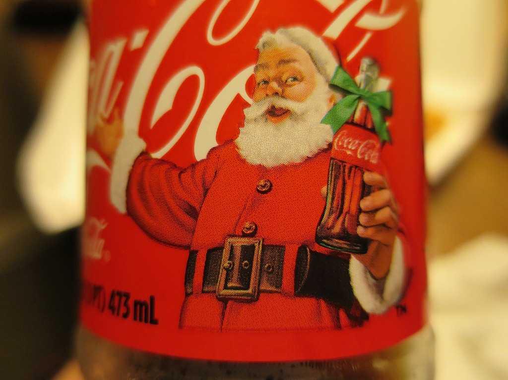 サンタクロースのコカコーラ