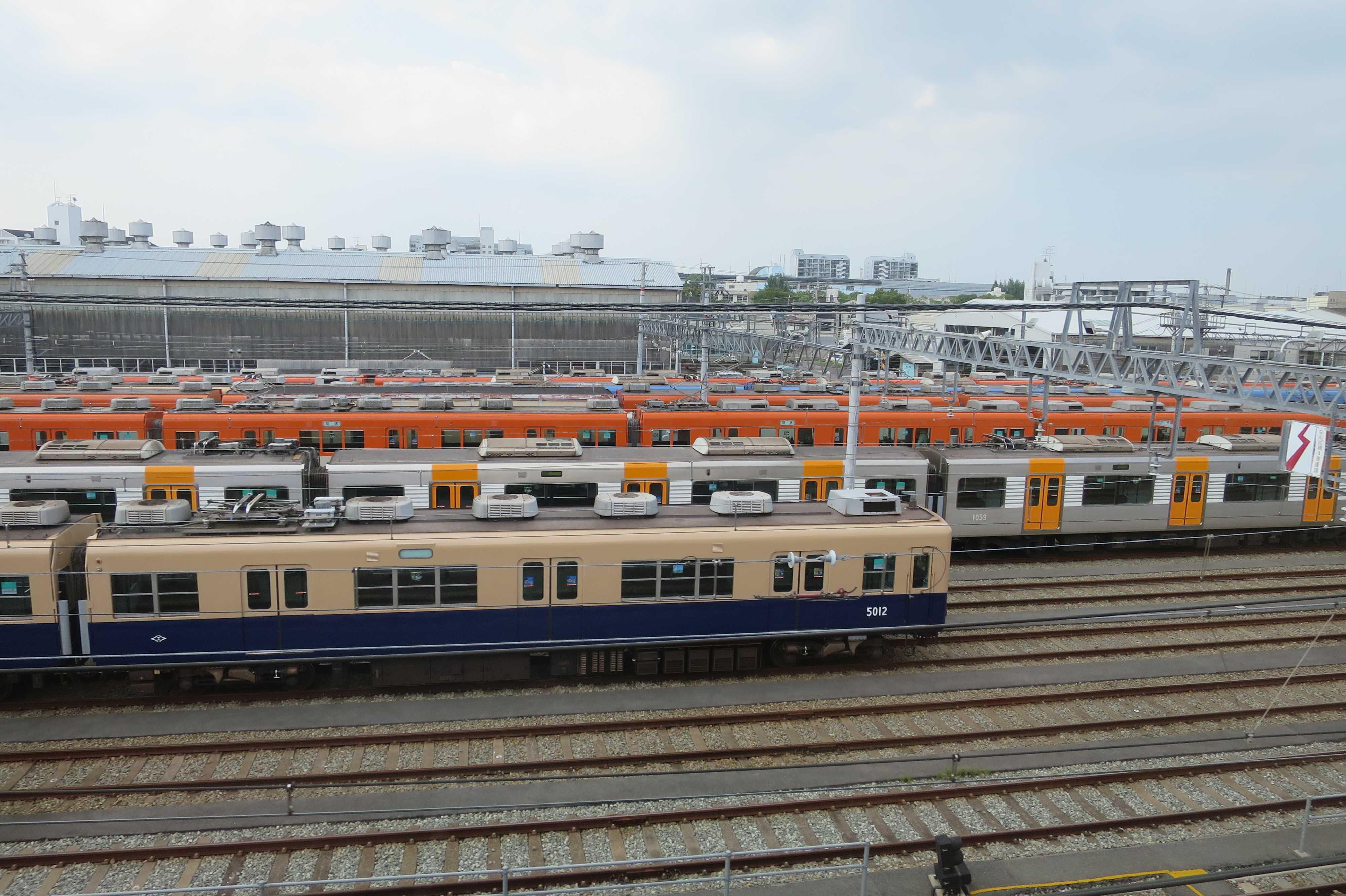 阪神電鉄の尼崎車庫