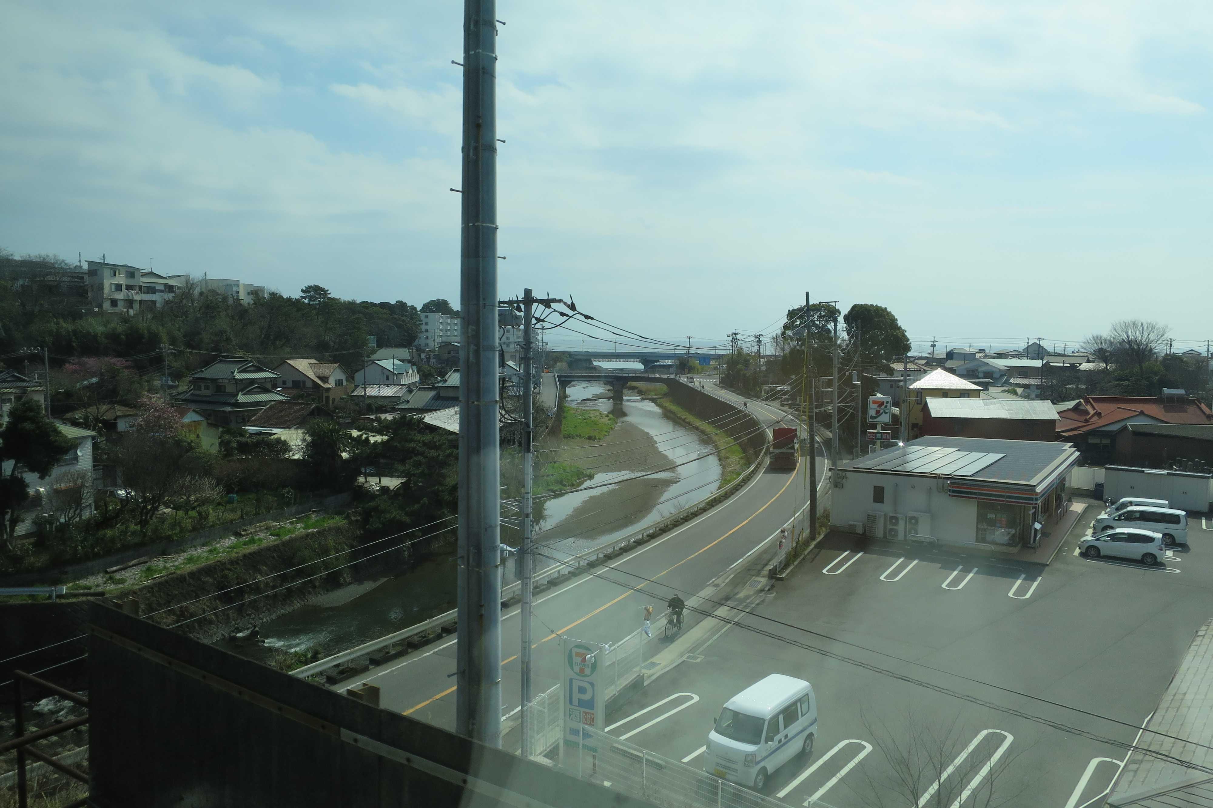 東海道線の車窓