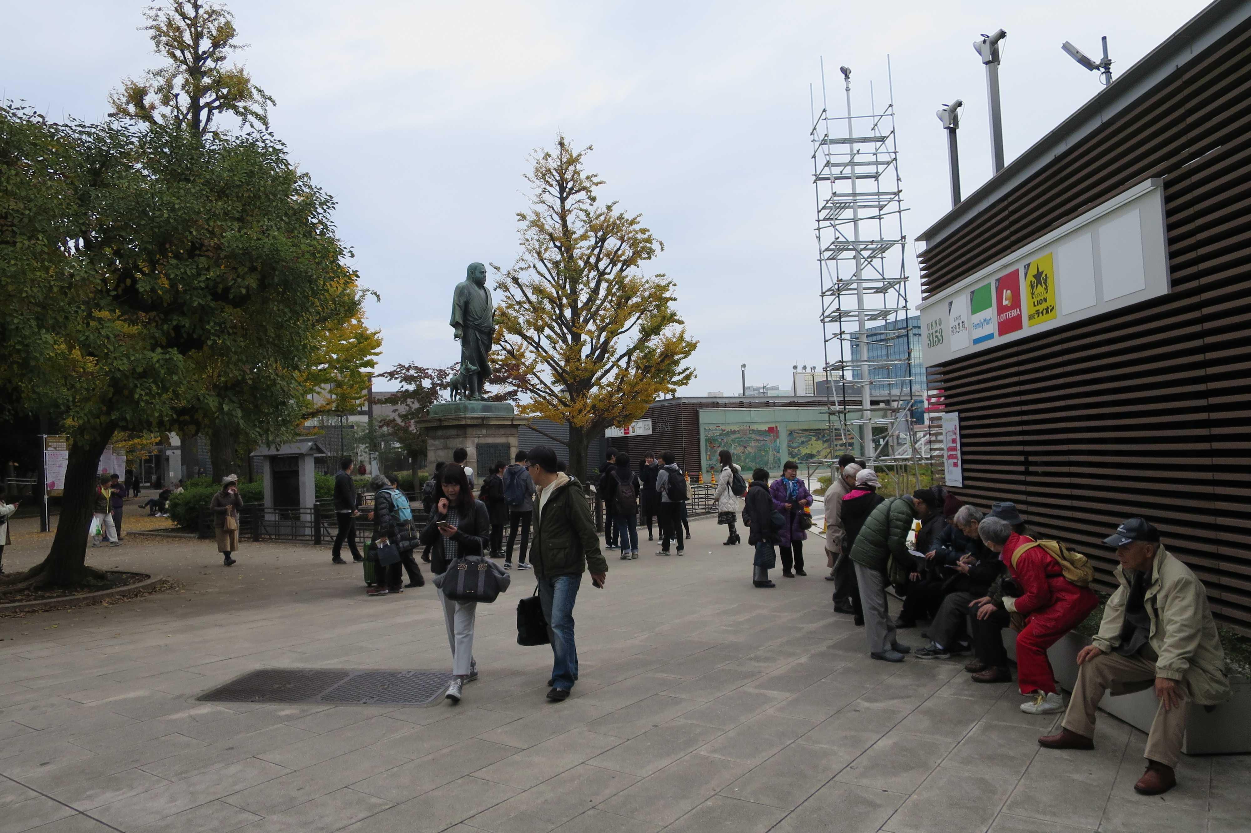 上野公園の西郷隆盛銅像