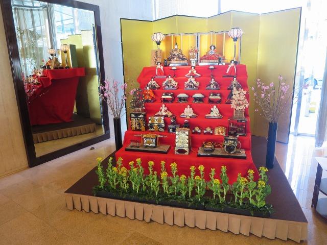 シェラトン都ホテル東京の雛飾り