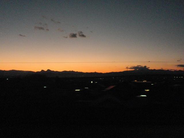 Maxときから見えた幻想的な夕焼け