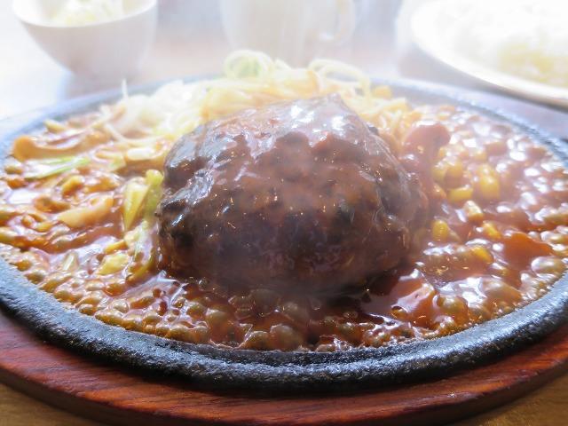 箱根湯本の喫茶店で食べたハンバーグ定食