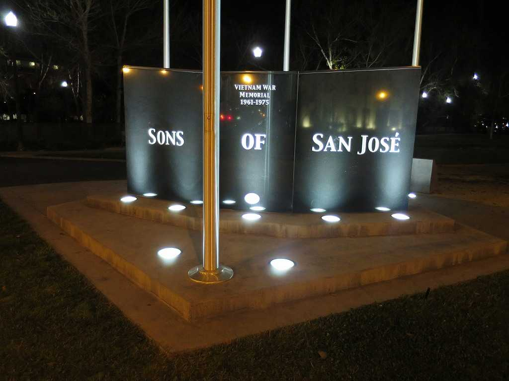 VIETNAM WAR MEMORIAL 1961-1975 SONS OF SAN JOSE