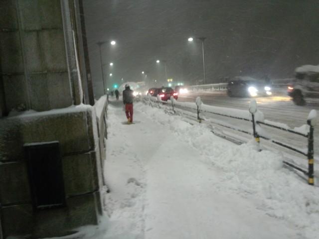 大雪の日の大和田橋
