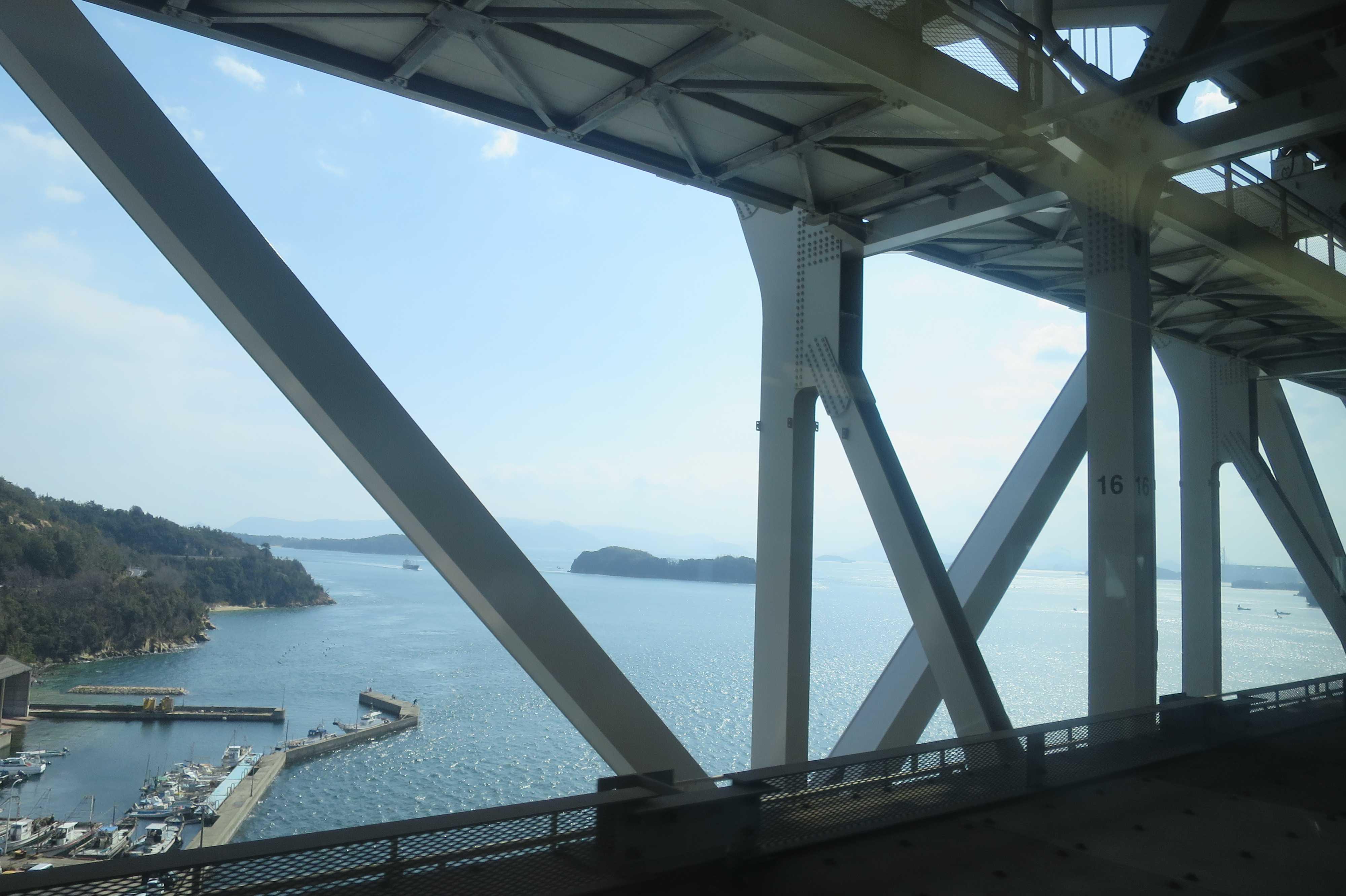 瀬戸大橋通過