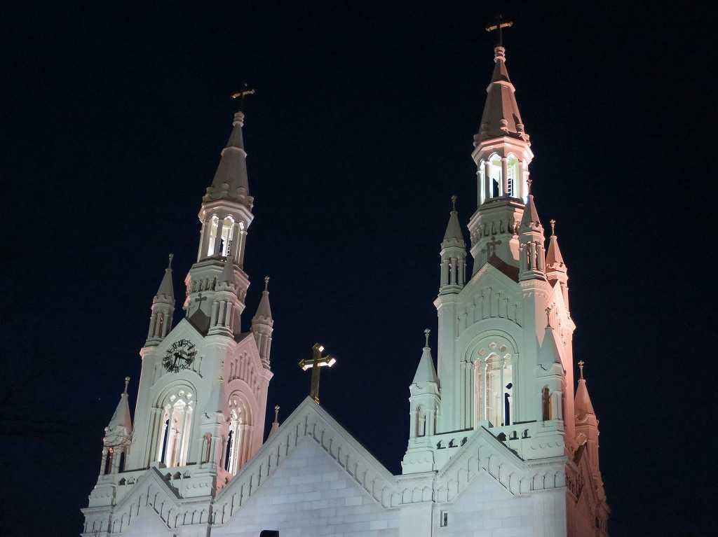 サンフランシスコ - 夜の聖ピーター&ポール教会