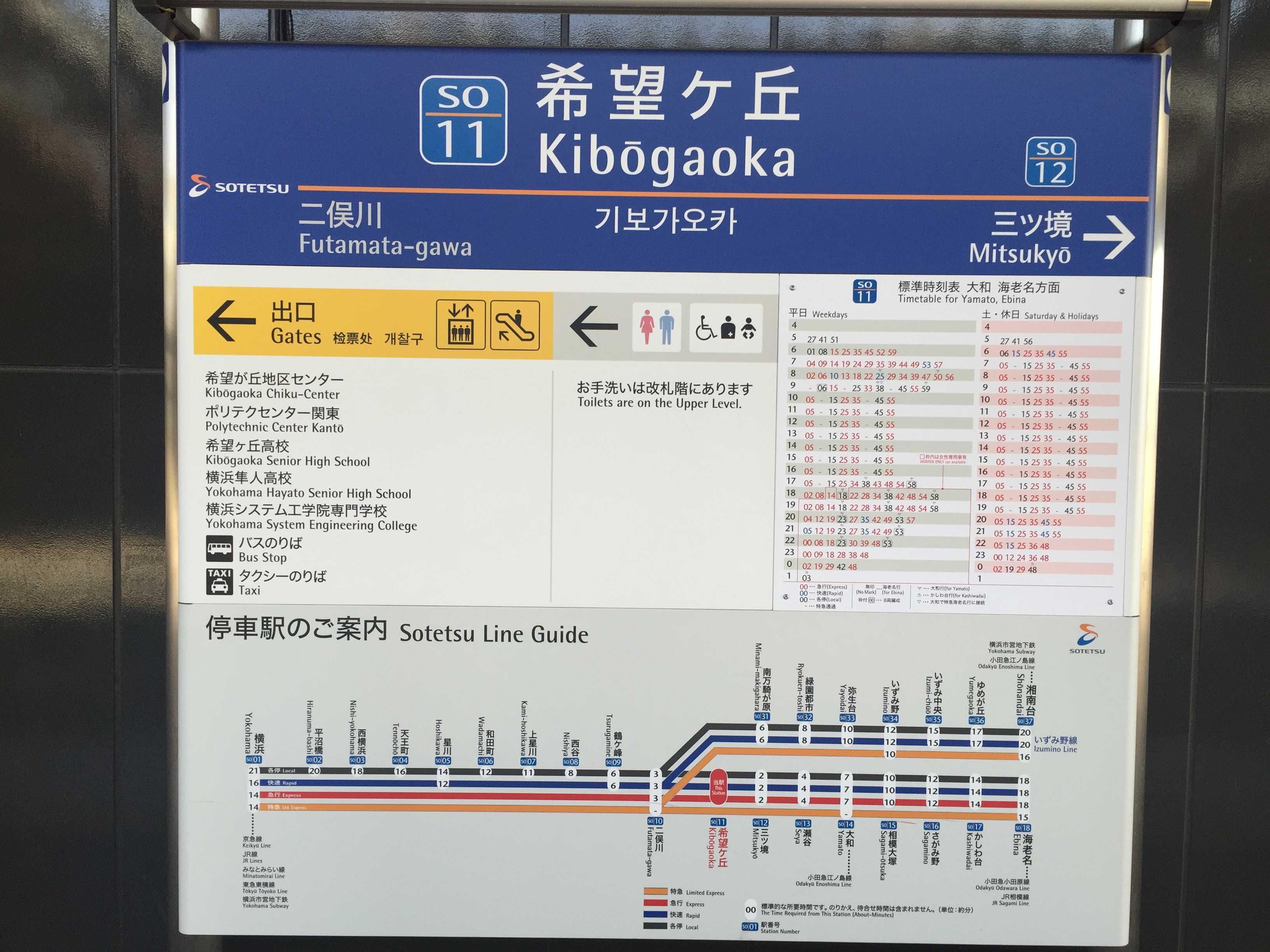 希望ヶ丘駅の駅名看板
