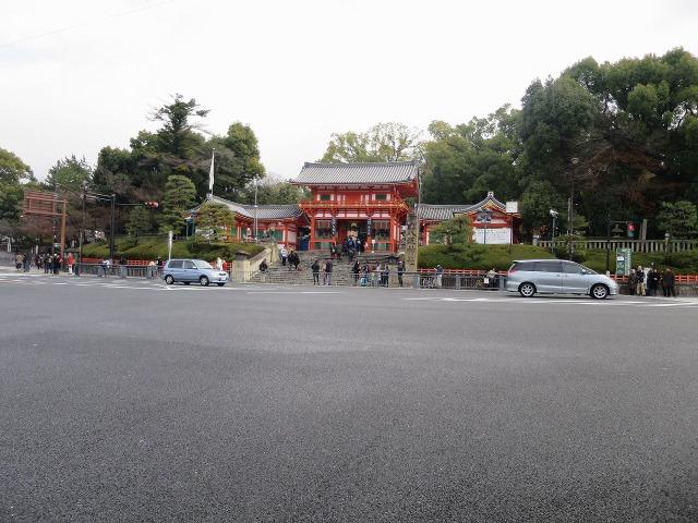 八坂神社前の道路