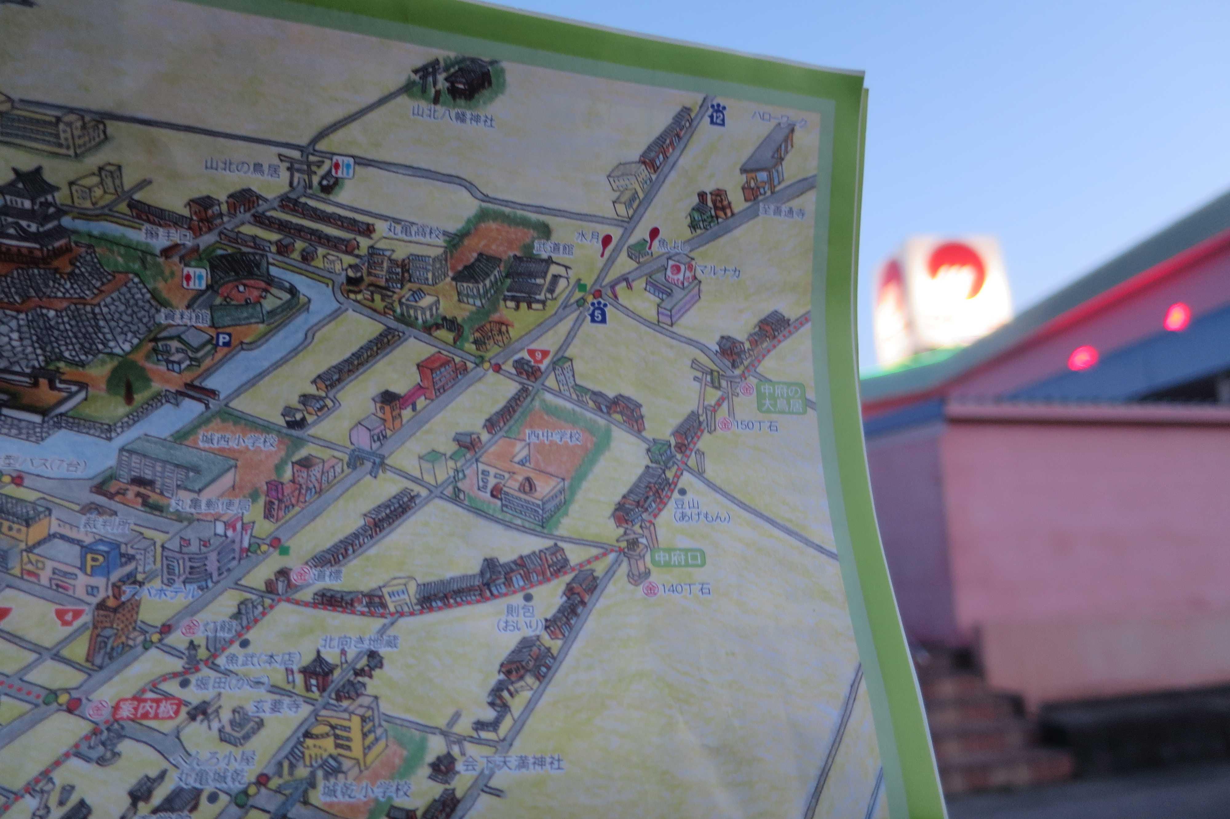 丸亀わんだふるマップの金毘羅街道部分