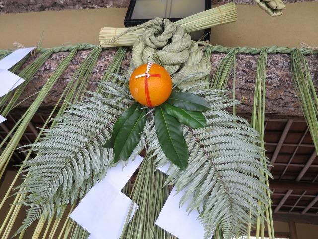 京都東山の正月飾り