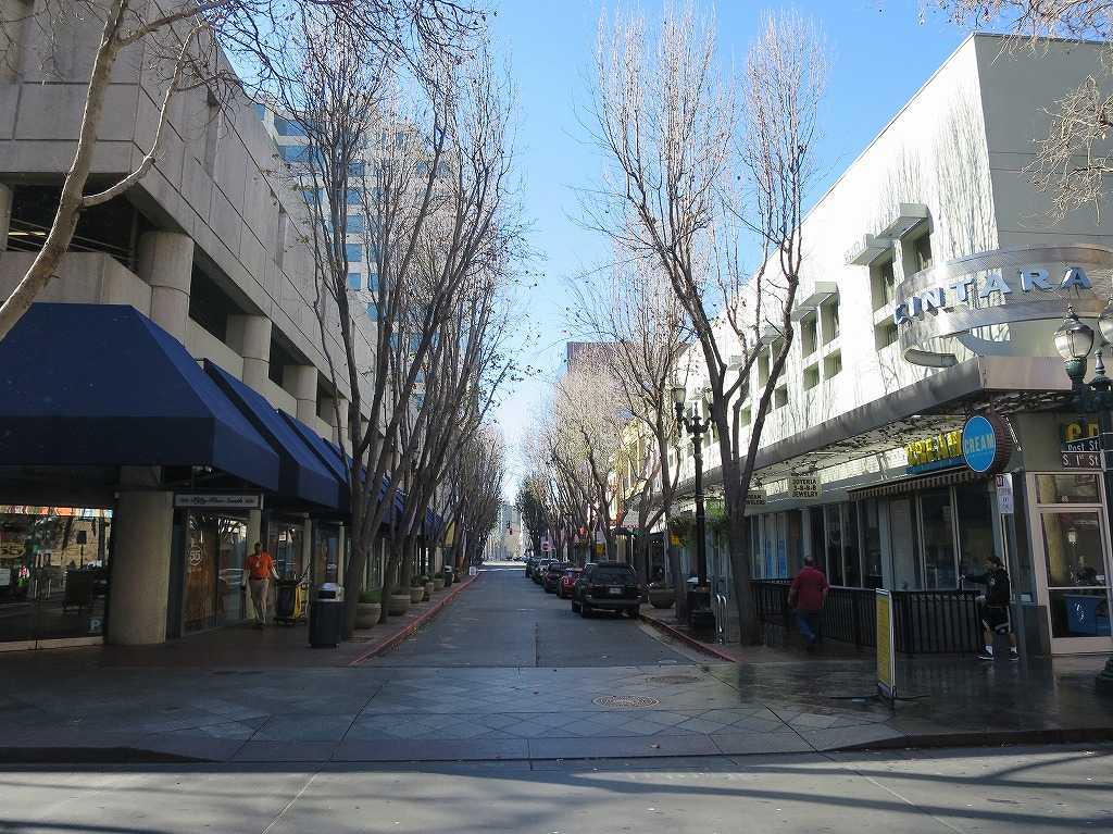 サンノゼ市内の小路