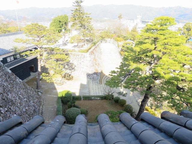 高知城から見えた景色