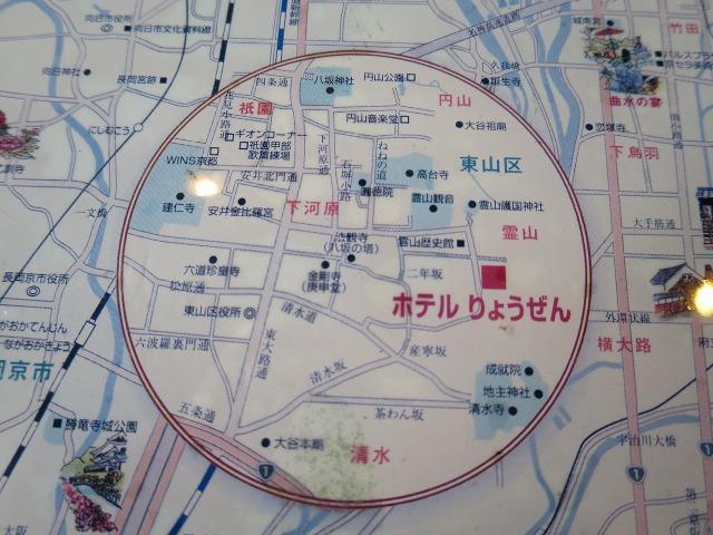 ホテルりょうぜん周辺の地図