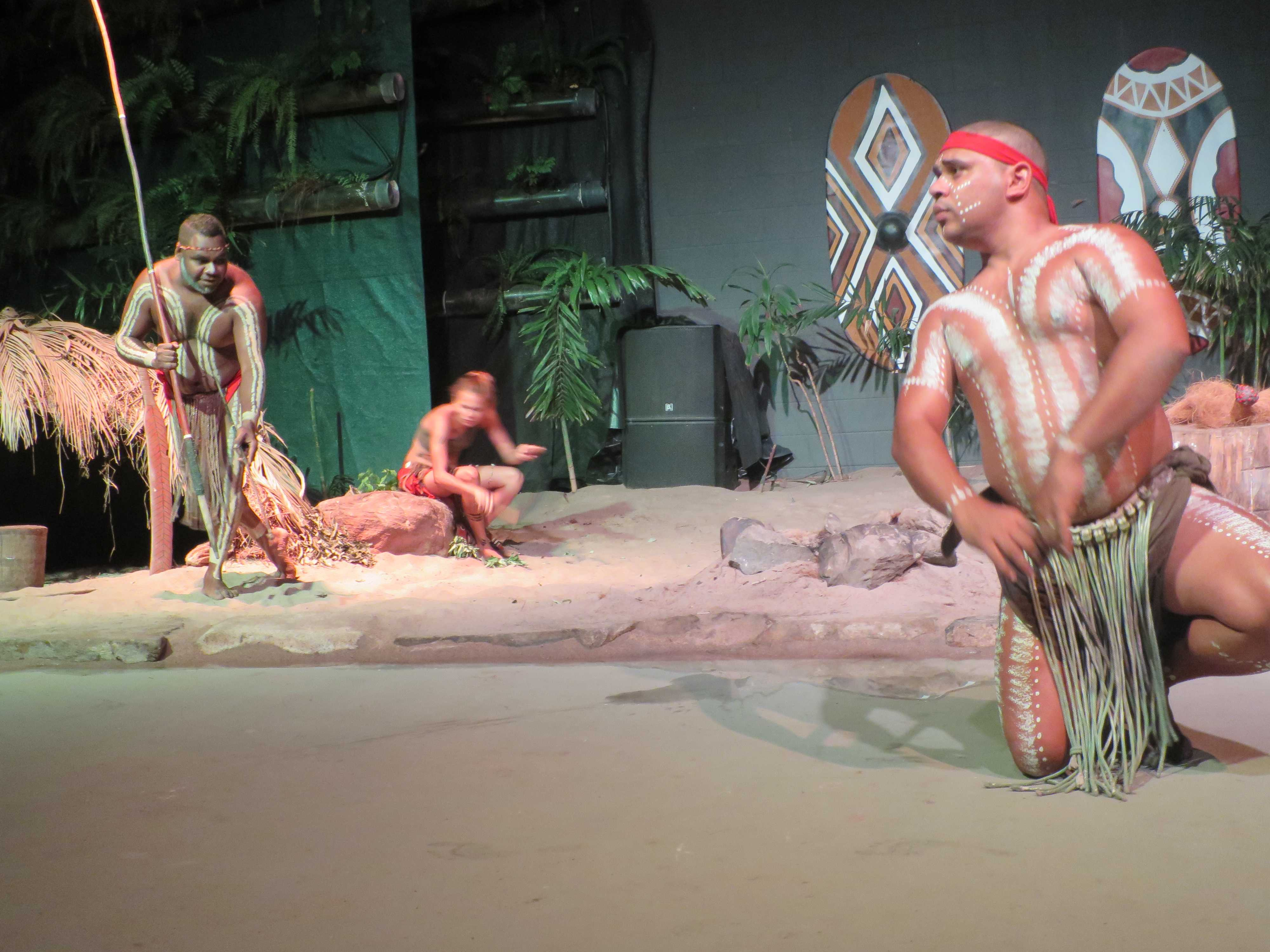アボリジニのカンガルー狩り
