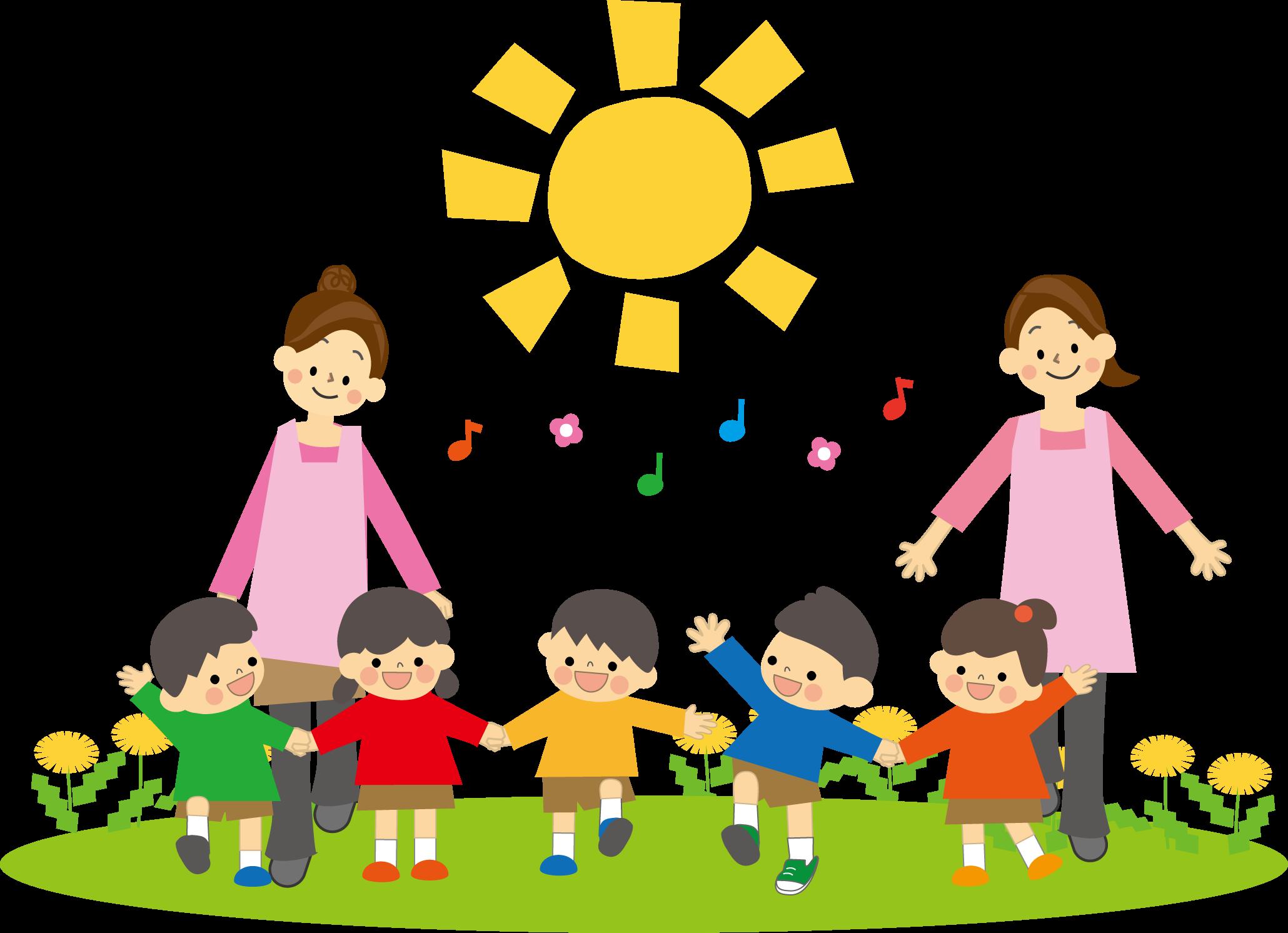 保育園と幼稚園児