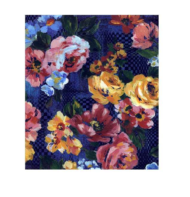 花, 油画タッチ, 高塚由子,イラスト