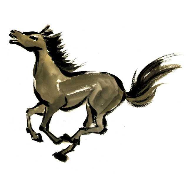 馬,動物,馬事公苑,水彩画,イラスト