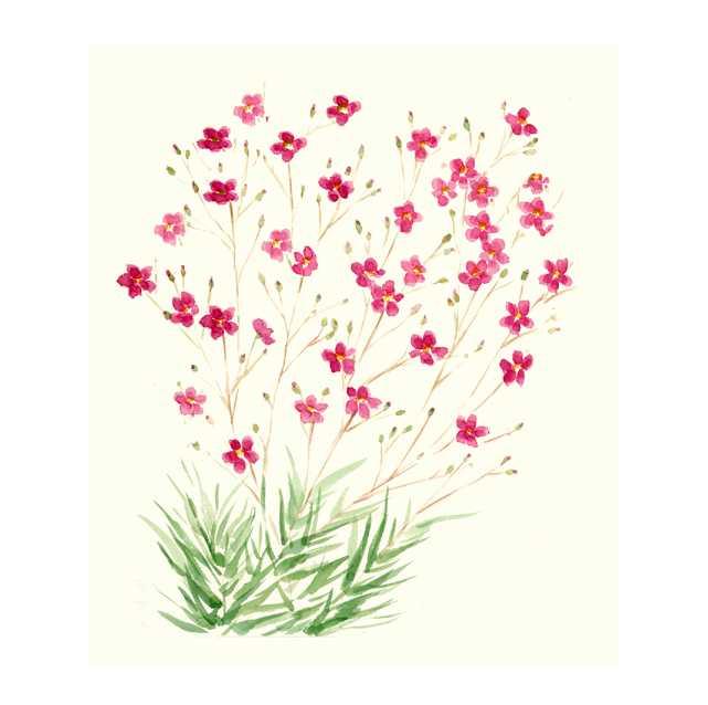 雑草,花,初夏,植物,水彩画,イラスト,素材