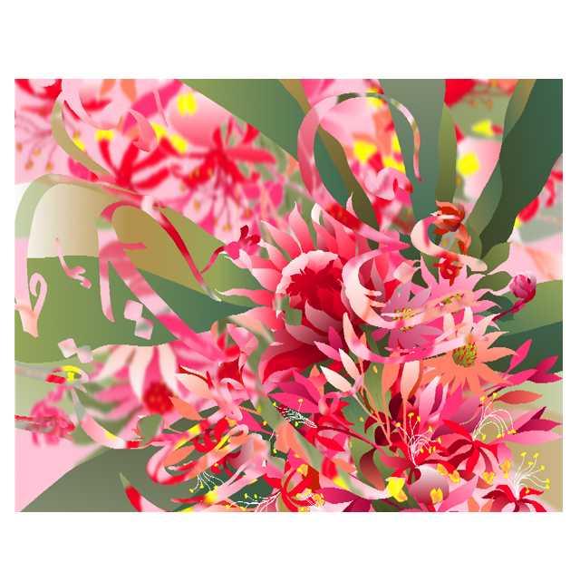 水彩画,デジタル,花