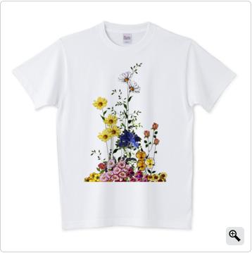 Tシャツ,花束