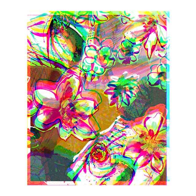 春,コラージュ,花,高塚由子,Yoshiko,Taaktsuka,イラスト