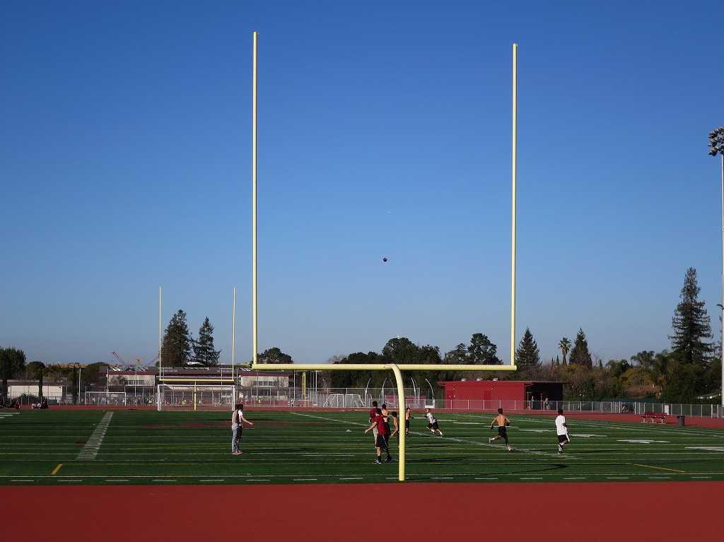クパチーノ - アメリカンフットボールの練習