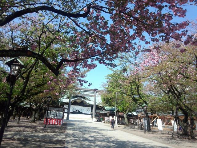 靖国神社 - 中門鳥居と拝殿