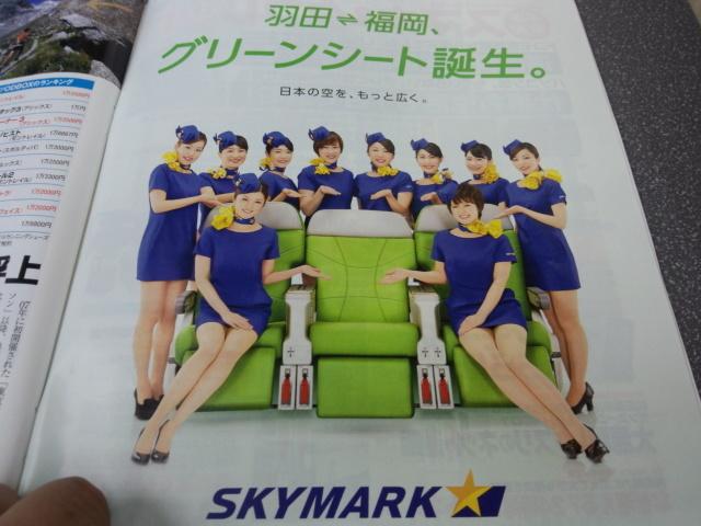 スカイマークのミニスカート - 羽田-福岡 グリーンシート