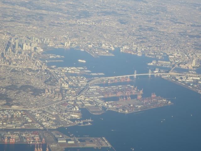 上空から見た横浜港