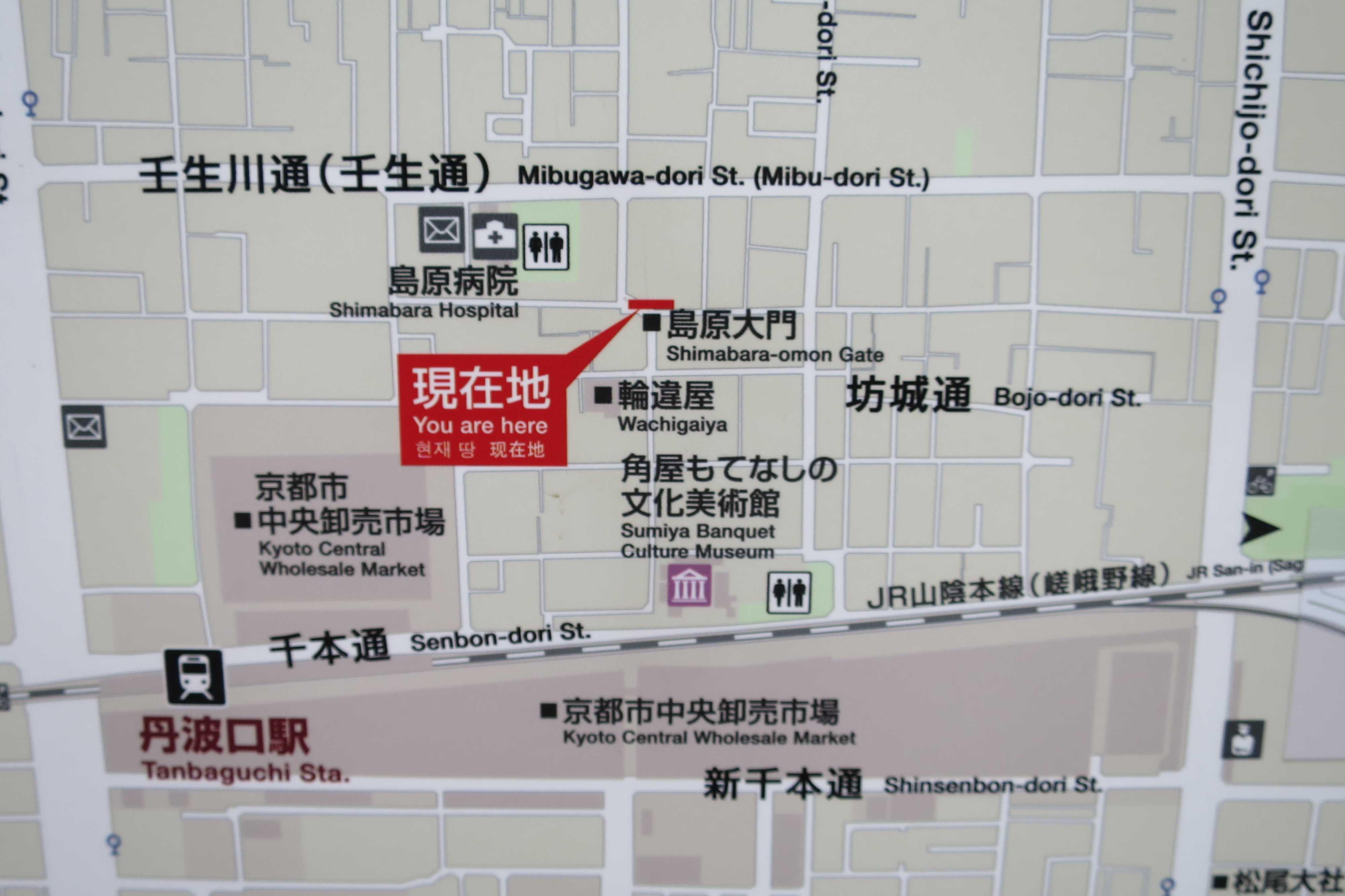 島原大門前の新しい地図