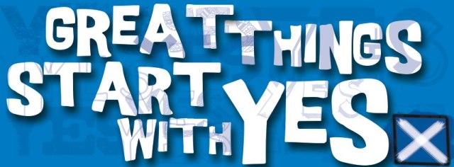 GCU's very own referendum - Yes Scotland GCU